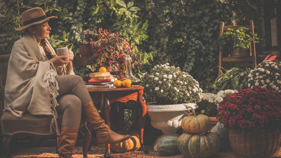 есен жена уют кафе дом