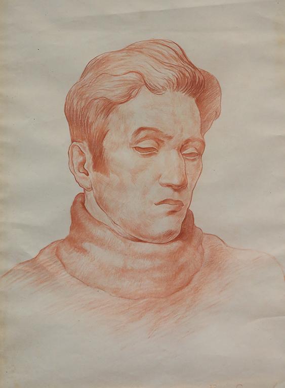 <p>Борис Георгиев, Портрет на поета Теодор Траянов</p>