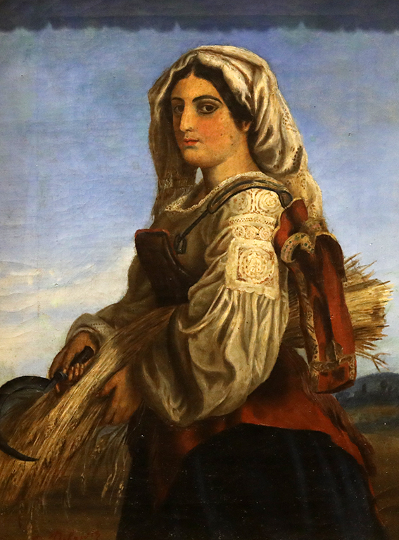 <p>Димитър Добревич, Жътварка (италианска селянка с житен клас) около 1870-80 г.</p>