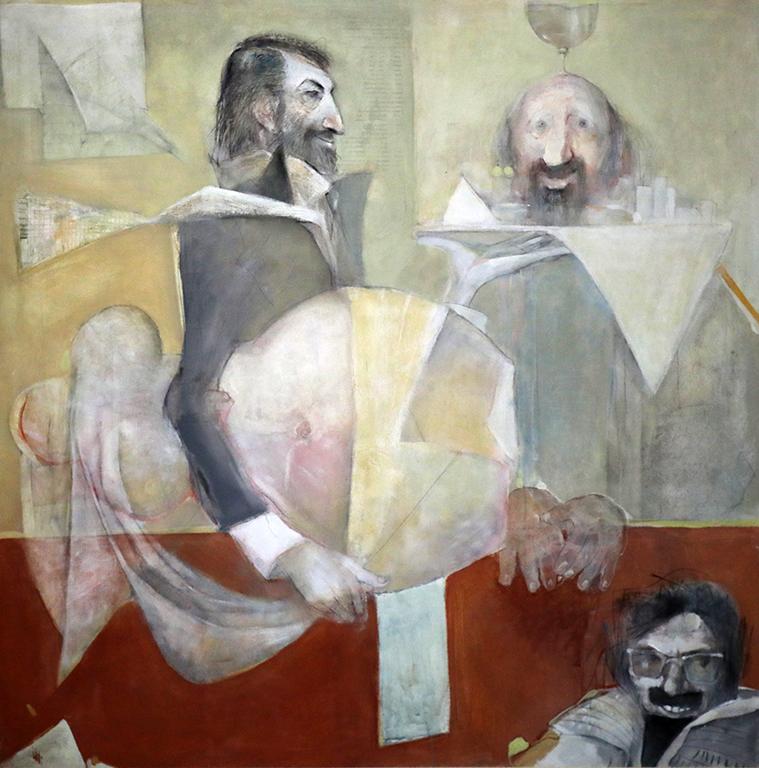 <p>Георги Трифонов, Писателите Христо Калчев, Васко Жеков и Виктор Пасков</p>