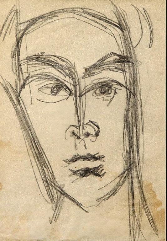 <p>Генко Генков, Автопортрет като млад</p>