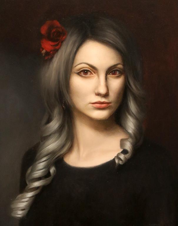 <p>Роза, маслени бои/платно Rose, oil paint on canvas</p>