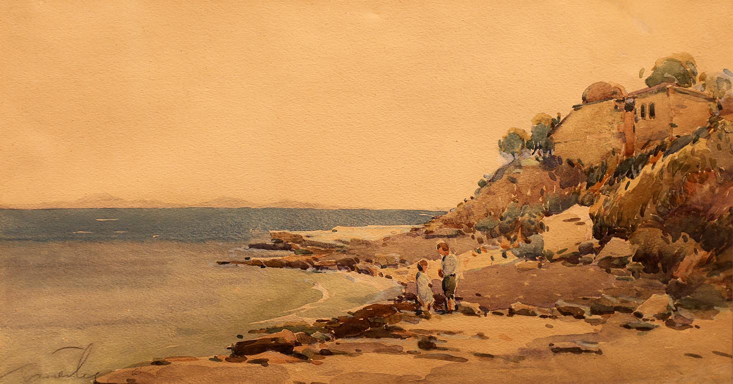 <p>Райко Алексиев (1893 &ndash; 1944)</p>  <p>Край брега на Охридското езеро, 1916 акварел, хартия</p>