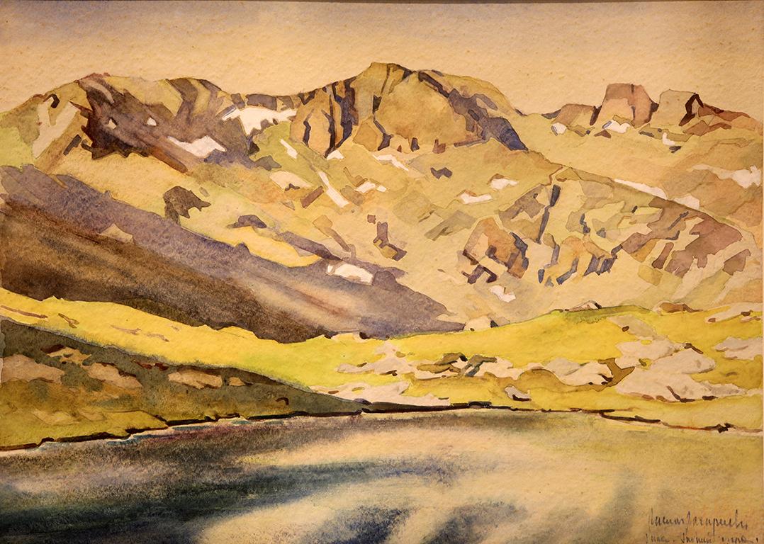 <p>Васил Захариев (1895 &ndash; 1971)</p>  <p>Рилските езера, 30-те г. на ХХ в. акварел, хартия</p>