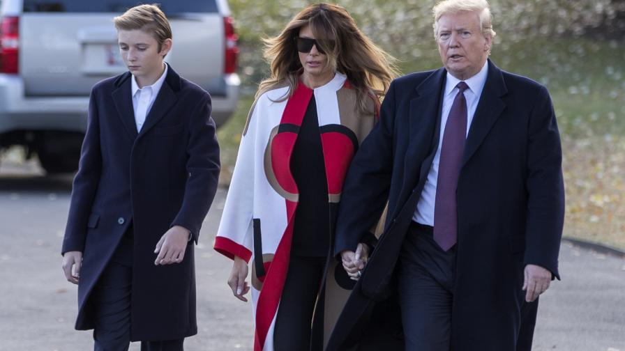 Барън, Мелания и Доналд Тръмп