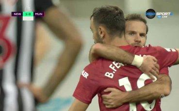 Нюкасъл - Манчестър Юнайтед 1:1 /първо полувреме/