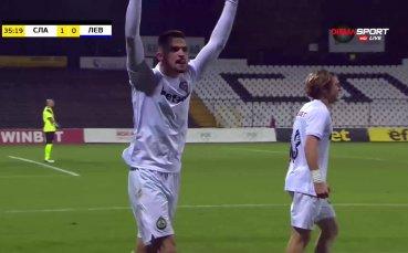 Калоян Кръстев откри резултата в полза на Славия