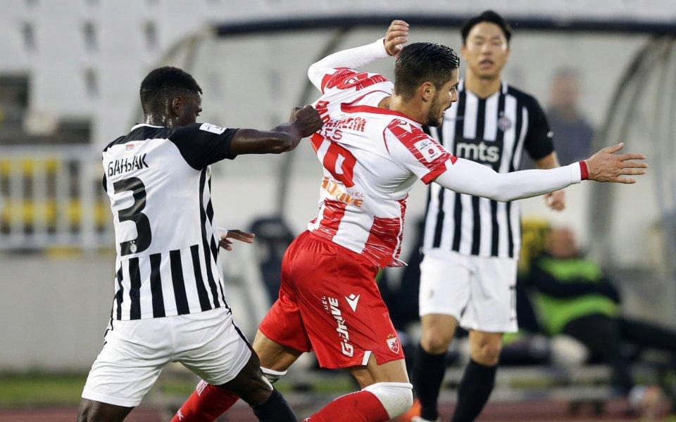 Цървена звезда победи Партизан с 1:0 в дербито от 30-ия