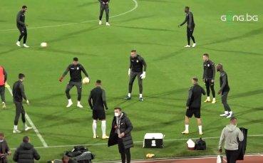 Официална тренировка на ЧФР Клуж преди двубоя с ЦСКА от Лига Европа