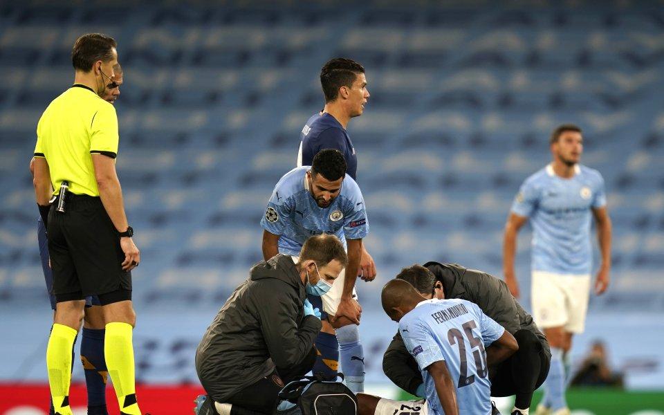 Футболистът на Манчестър Сити Фернандиньо ще бъде извън терените между