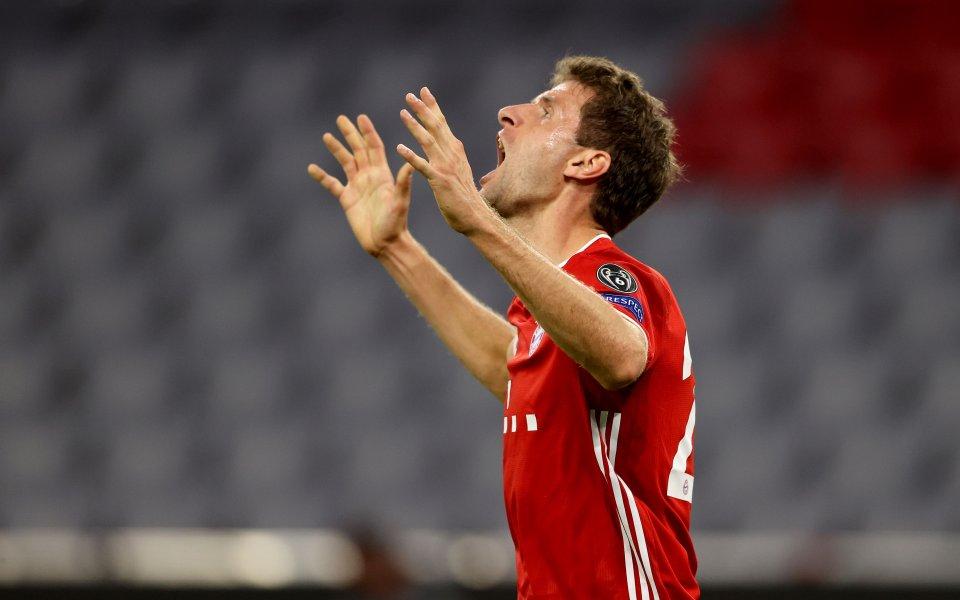 Футболистът на Байерн Мюнхен Томас Мюлер, , нагледно показа своя