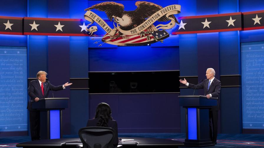 Дебатът между Доналд Тръмп и Джо Байдън