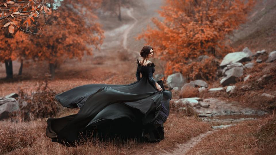 жена мистично магия магично есен