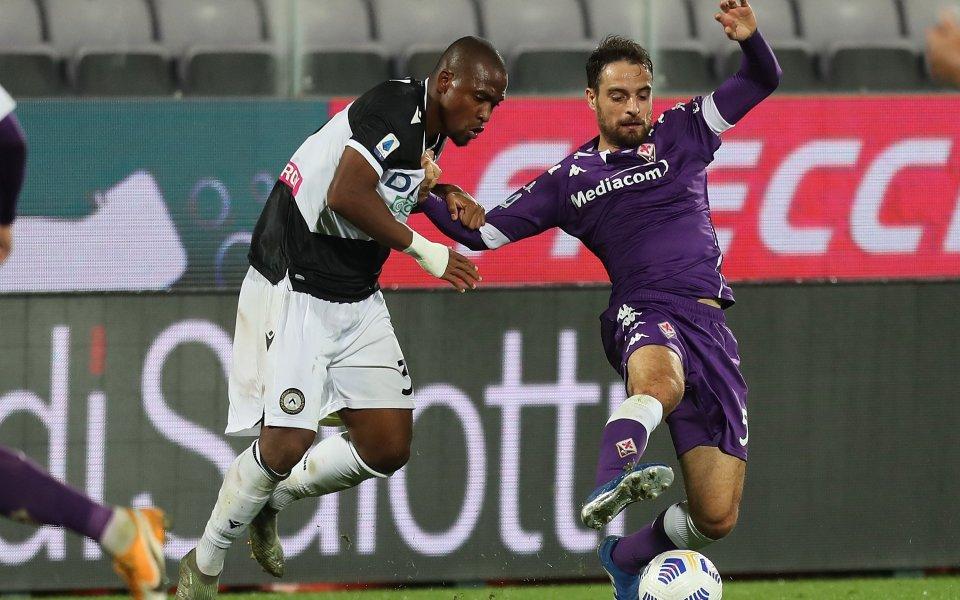 Фиорентина победи с 3:2 Удинезе в мач от петия кръг