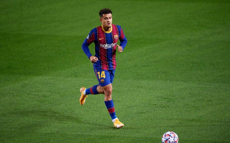 Футболистът на Барселона Филипе Коутиньо ще пропусне мача от Шампионска