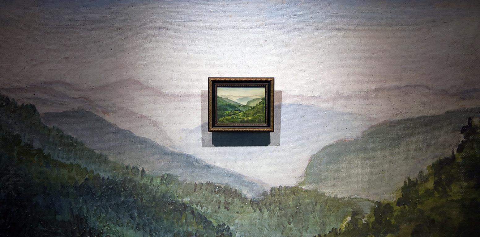 <p>НЕВИДИМОТО. ВИЗУАЛИЗАЦИИ ОТВЪД ПАМЕТТА, ВЪОБРАЖЕНИЕТО И СИМУЛИРАНАТА РЕАЛНОСТ</p>  <p>Николай Райнов, Пейзаж от Дьовлен, 1920 г.</p>