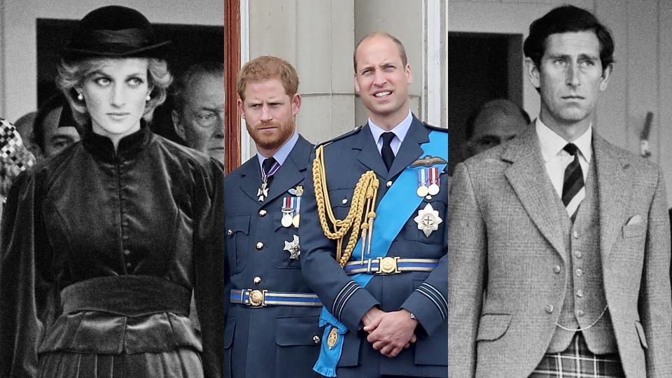 принцеса Даяна принц Хари принц Уилям принц Чарлз