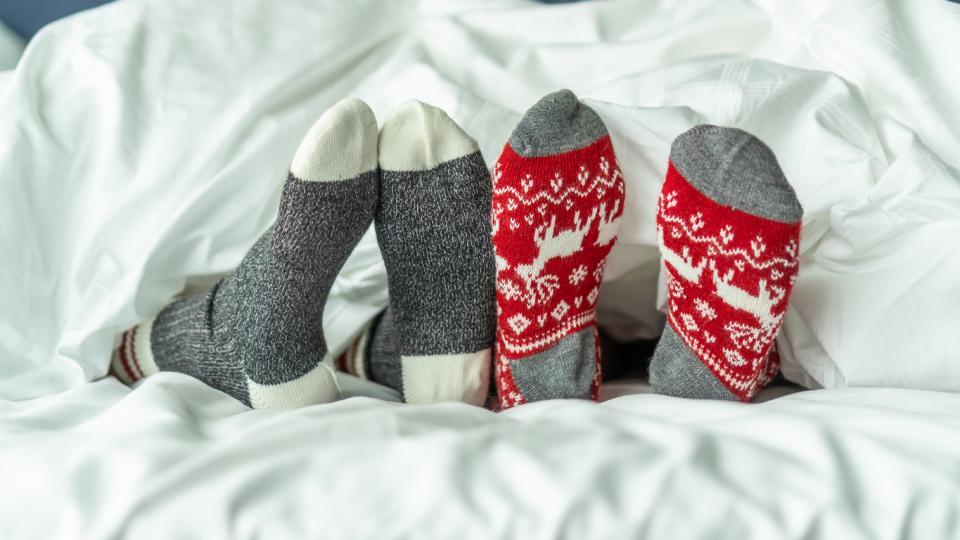 уют коледа чорапи зима есен
