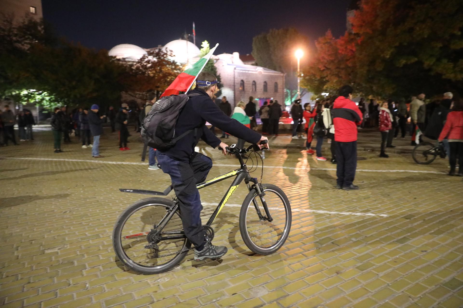 <p>113-та вечер на протести в София</p>