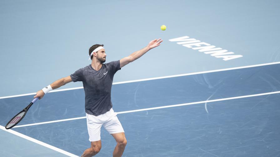 Григор Димитров е на ¼-финал след страхотен обрат във Виена