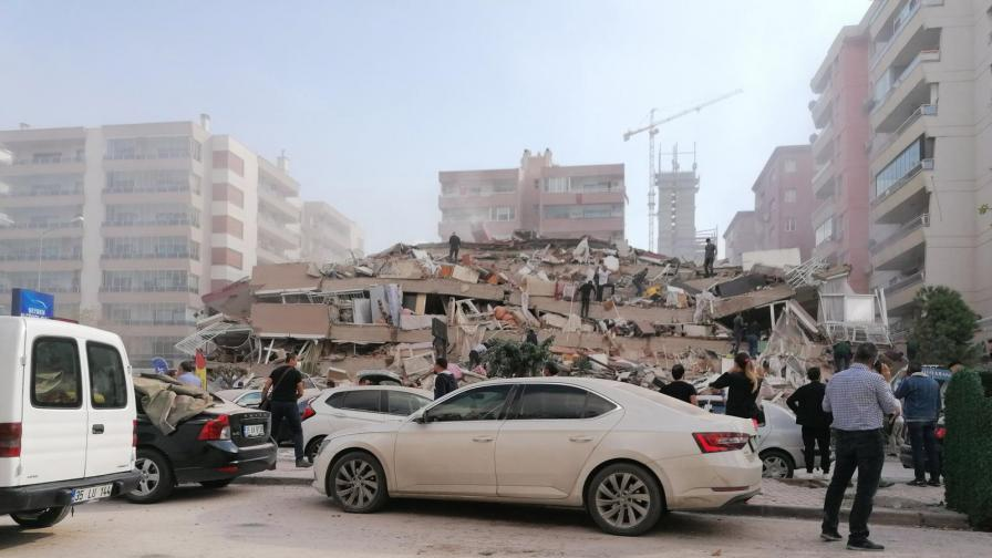 Земетресение в Егейско море, жертви в Турция, разрушения в Гърция