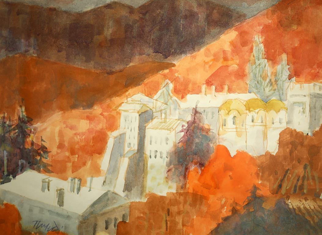 <p>Рилският манастир - есен</p>