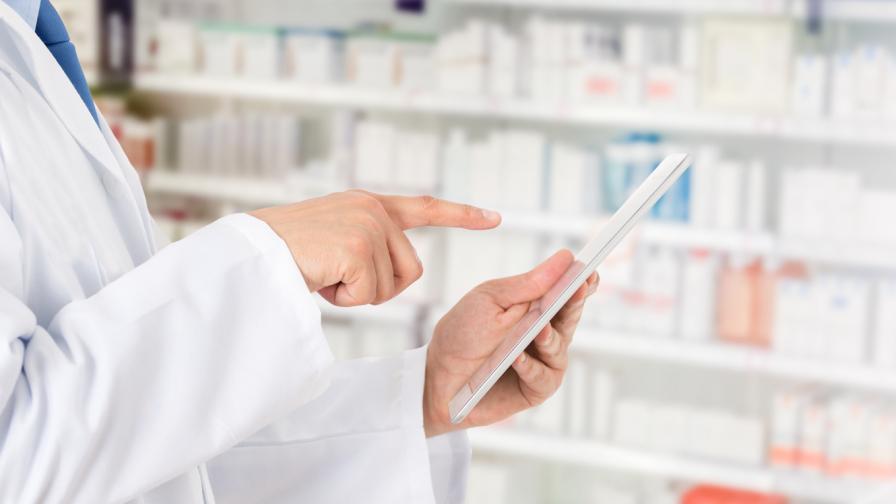 Снимката на аптека в илюстративна
