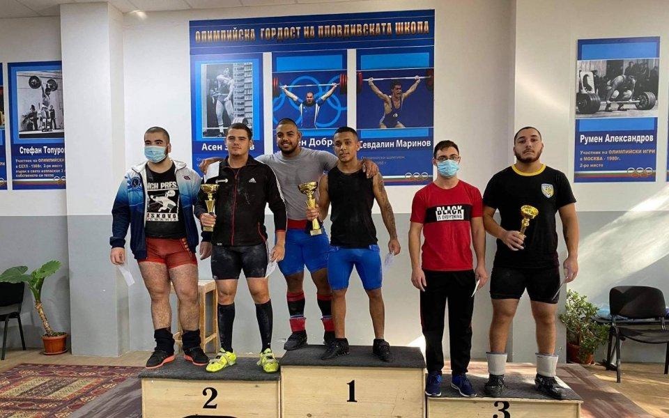 Божидар Андреев и Мая Иванова триумфираха на щанги турнира Милен Добрев
