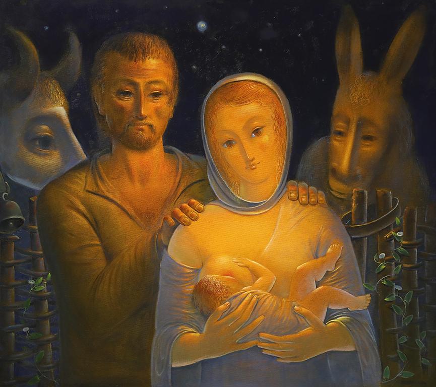 <p>Свято семейство, 2000 г, маслени бои, платно</p>