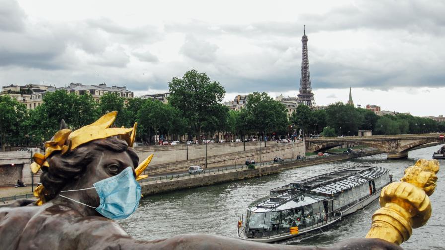 Франция прехвърли прага от 2 милиона заразени