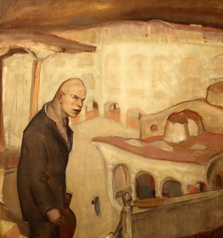 <p>Дечко Узунов (1899-1986), Вечерня (Идиот), 1926 г. маслени бои, платно</p>
