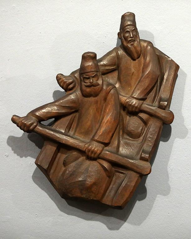 <p>Иван Лазаров (1889-1952), Лодкари от Зограф, 1928-1929 г.&nbsp; дърво</p>  <p>&nbsp;</p>