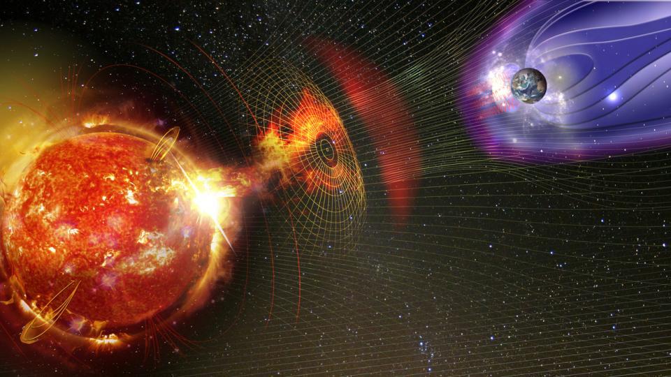 Земя Слънце магнитна буря