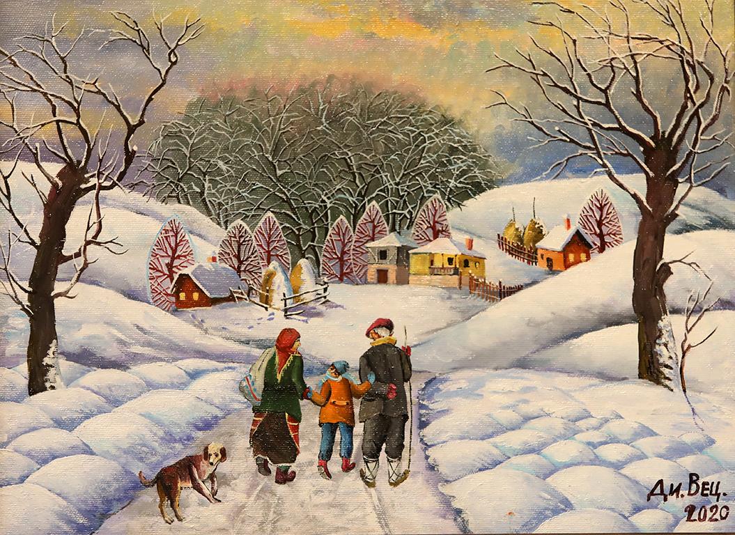 <p>Зима в планината, маслени бои, платно</p>