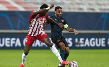 Манчестър Сити се класира на 1/8-финалите в ШЛ след минимален успех в Пирея