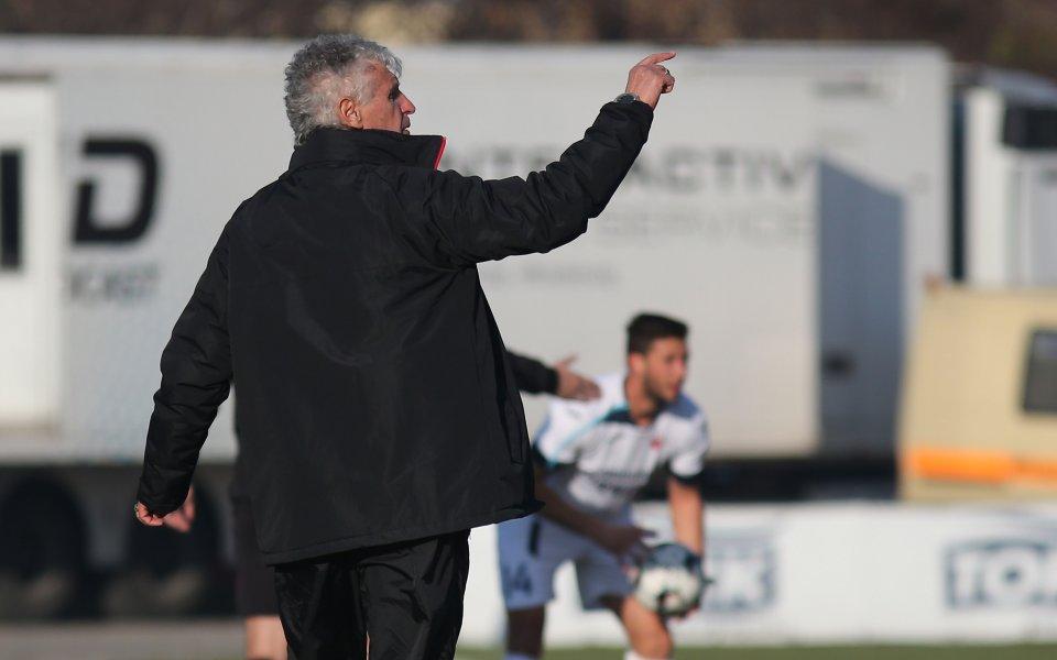 Треньорът на Локомотив София Иван Колев бе доволен от победата