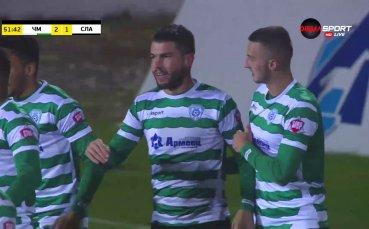 Стефан Велев реализира втори гол във вратата на Славия