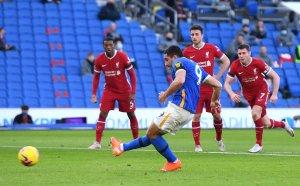 НА ЖИВО: Брайтън 0:0 Ливърпул, домакините пропуснаха дузпа