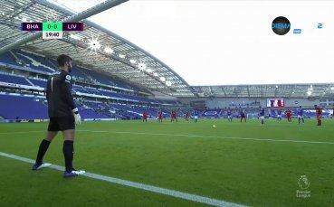 Брайтън пропусна дузпа срещу Ливърпул