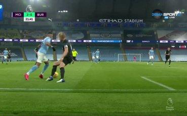 Манчестър Сити с втори гол срещу Бърнли