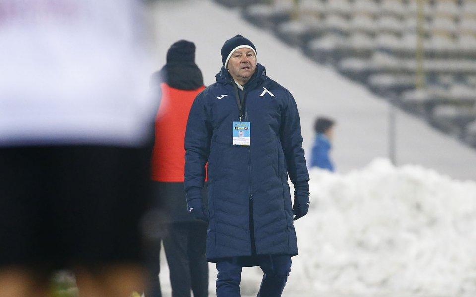 Славишя Стояновия изрази задоволството си от победата на Левски с