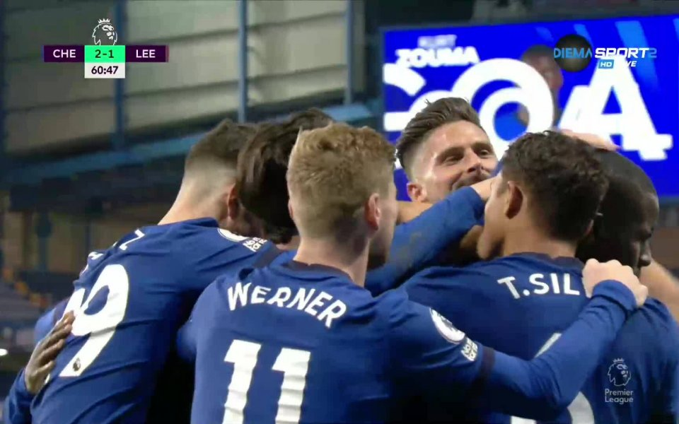 Отборът на Челси стигна до пълен обрат срещу Лийдс. Курт