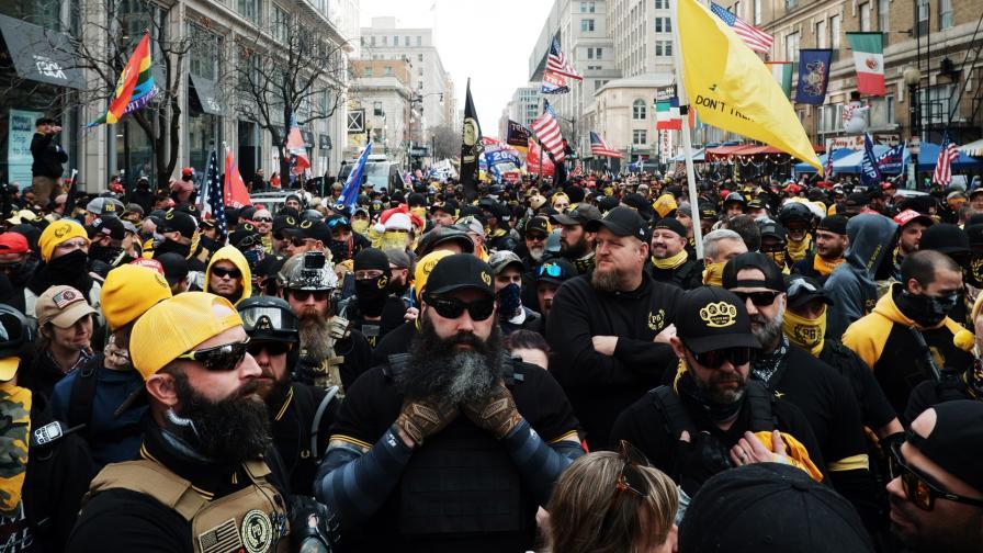 <p>Поддръжници на Тръмп протестираха в САЩ, стигна се до сблъсъци</p>
