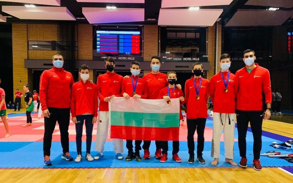 България със седем медала от европейското за кадети