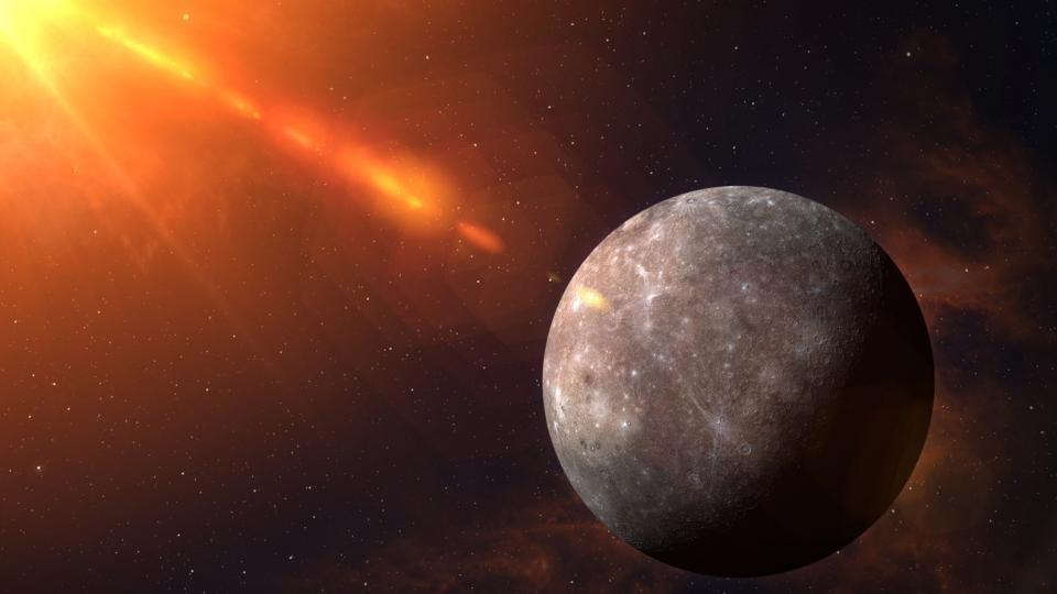 ретрограден Меркурий космос планета планети астрология Слънце