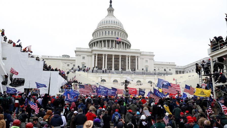 Безредици в Капитолия, нахлуха привърженици на Тръмп
