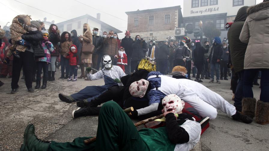 Полицията разтури карнавал в Република Северна Македония
