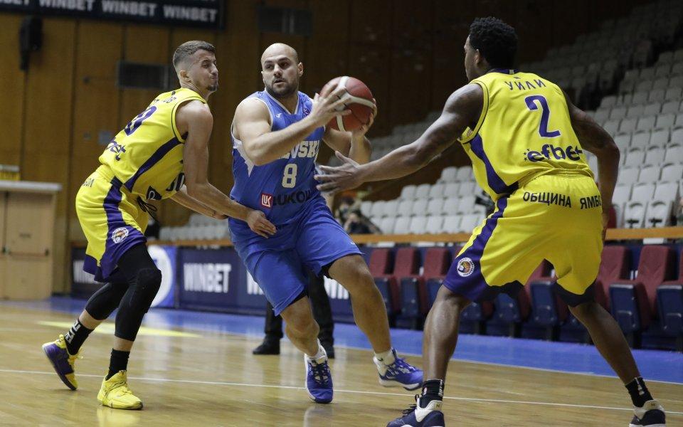Левски Лукойл записа десета победа през сезона в Националната баскетболна