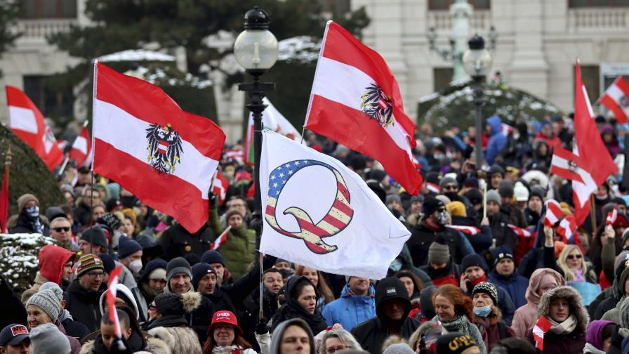 Хиляди протестират във Виена срещу ковид - мерките