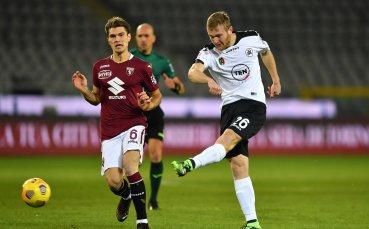 Гълъбинов се завърна за Специя при хикс срещу Торино